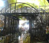 Construction of an overrun tunnel of the existing line with three underground stations.